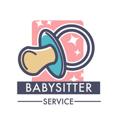 Babysitter service company caring for children vector