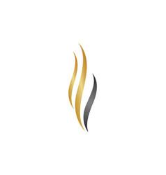 beauty hair logo vector image