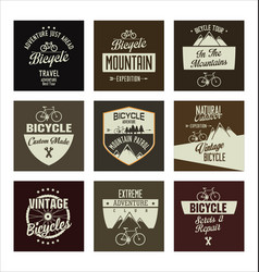 bicycle retro vintage banner collection vector image