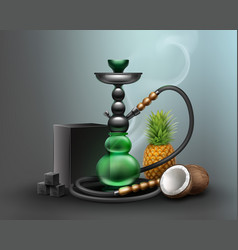 big green hookah vector image