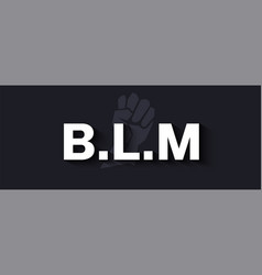 black lives matter banner with white letters and vector image