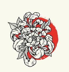 Blooming chrysanthemum flowers template vector