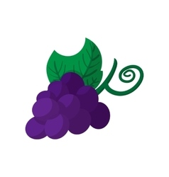 Blue grapes bunch icon cartoon style vector