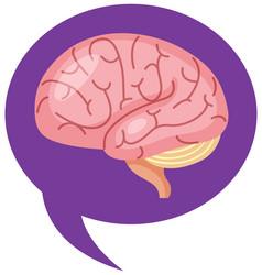 Brain sign in purple in world alzheimers day vector