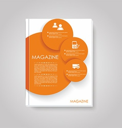 Brochure template design with circles elements vector