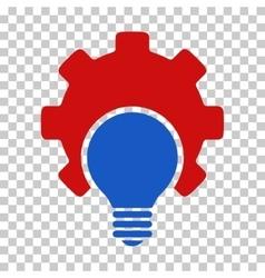 Bulb Configuration Gear Icon vector