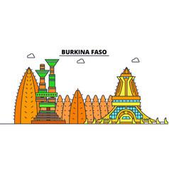 Burkina faso line skyline vector