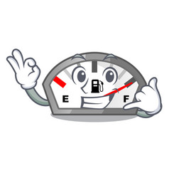 Call me gasoline indicator in the a mascot vector