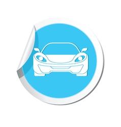 car BLUE LABEL vector image
