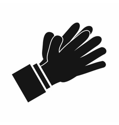 Clapping applauding hands icon simple style vector image