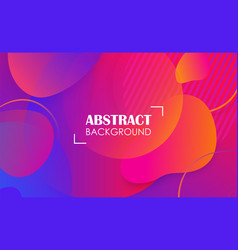 colorful geometric fluid shapes banner abstract vector image