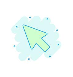 computer mouse cursor icon in comic style arrow vector image