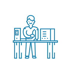 computer repair linear icon concept computer vector image