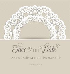decorative save the date invitation vector image