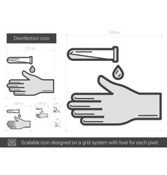 Disinfection line icon vector