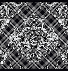 eclectic fabric plaid seamless pattern with vector image