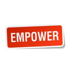 Empower square sticker on white vector