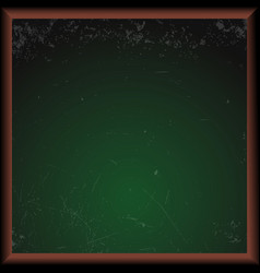 empty green school chalkboard vector image