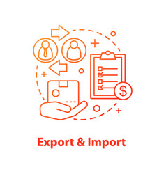 Export and import concept icon vector
