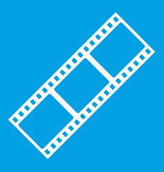 Film strip icon white vector