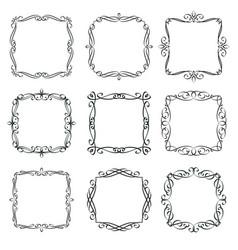 flourishes vintage frames vector image