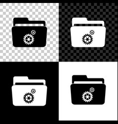 folder settings with gears icon isolated on black vector image