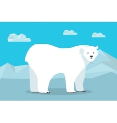Funny Polar Bear vector