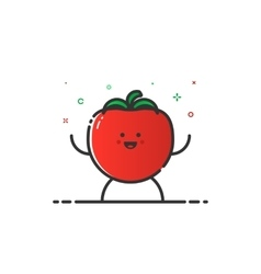 funny tomato character vector image