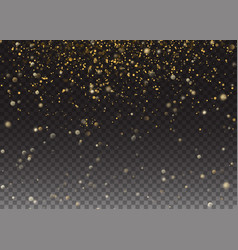 glitter effect gold glittering space star vector image