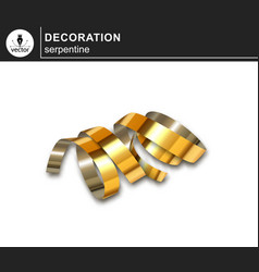golden serpentine decorative design element vector image