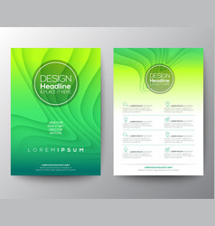 green flyer design template minimal abstract vector image