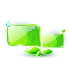 Green speech elements with ecological concept vector image