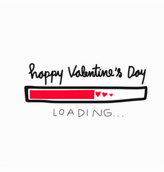 happy valentines day loading word vector image