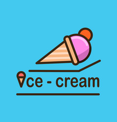 ice-cream logotype template vector image