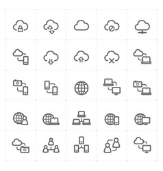 icon set - network and connectivity vector image