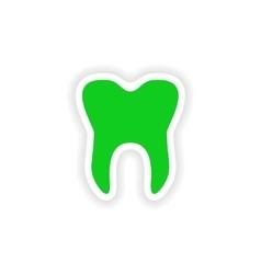 icon sticker realistic design on paper teeth vector image