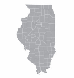 illinois counties map vector image