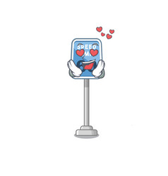 In love speed limit isolated in mascot vector