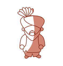 Indian ethic man cartoon vector