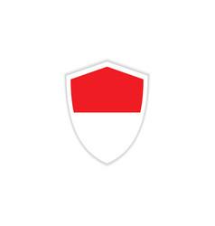 Indonesia flag emblem template design vector