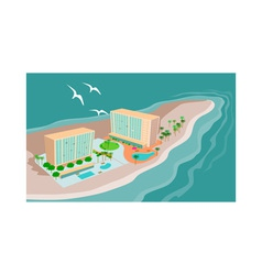 Island Beach Resort vector