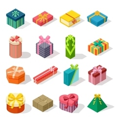 Isometric gift box vector