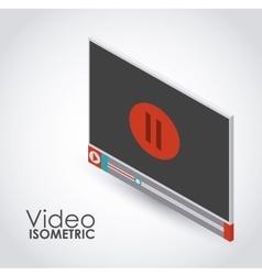 Isometric video icon design vector