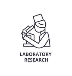 laboratory research thin line icon sign symbol vector image