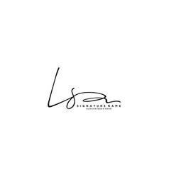 Letter ls signature logo template vector