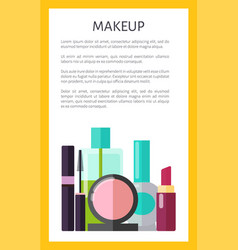 Makeup multicolored poster vector