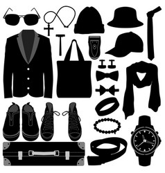 man male clothing wear accessories fashion design vector image