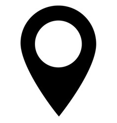 map point icon on white background pin sign vector image