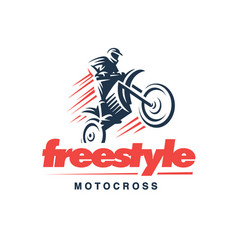 Motorcycle logo emblem design vector