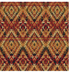 native american style fabric wallpaper vector image